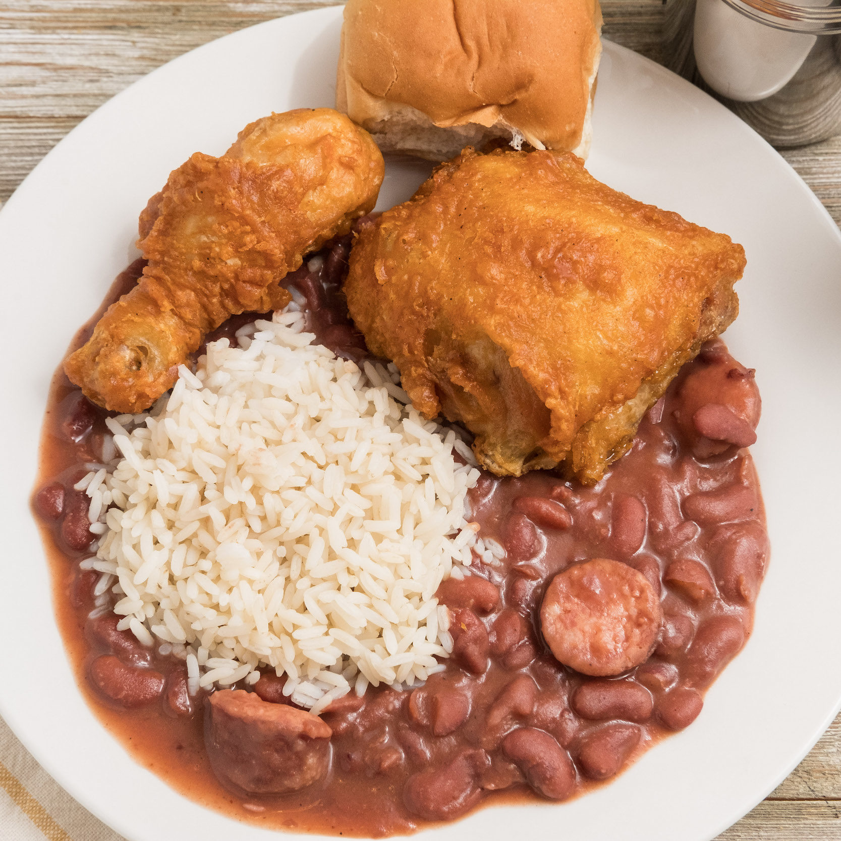 Fried Chicken and Red Beans (1)